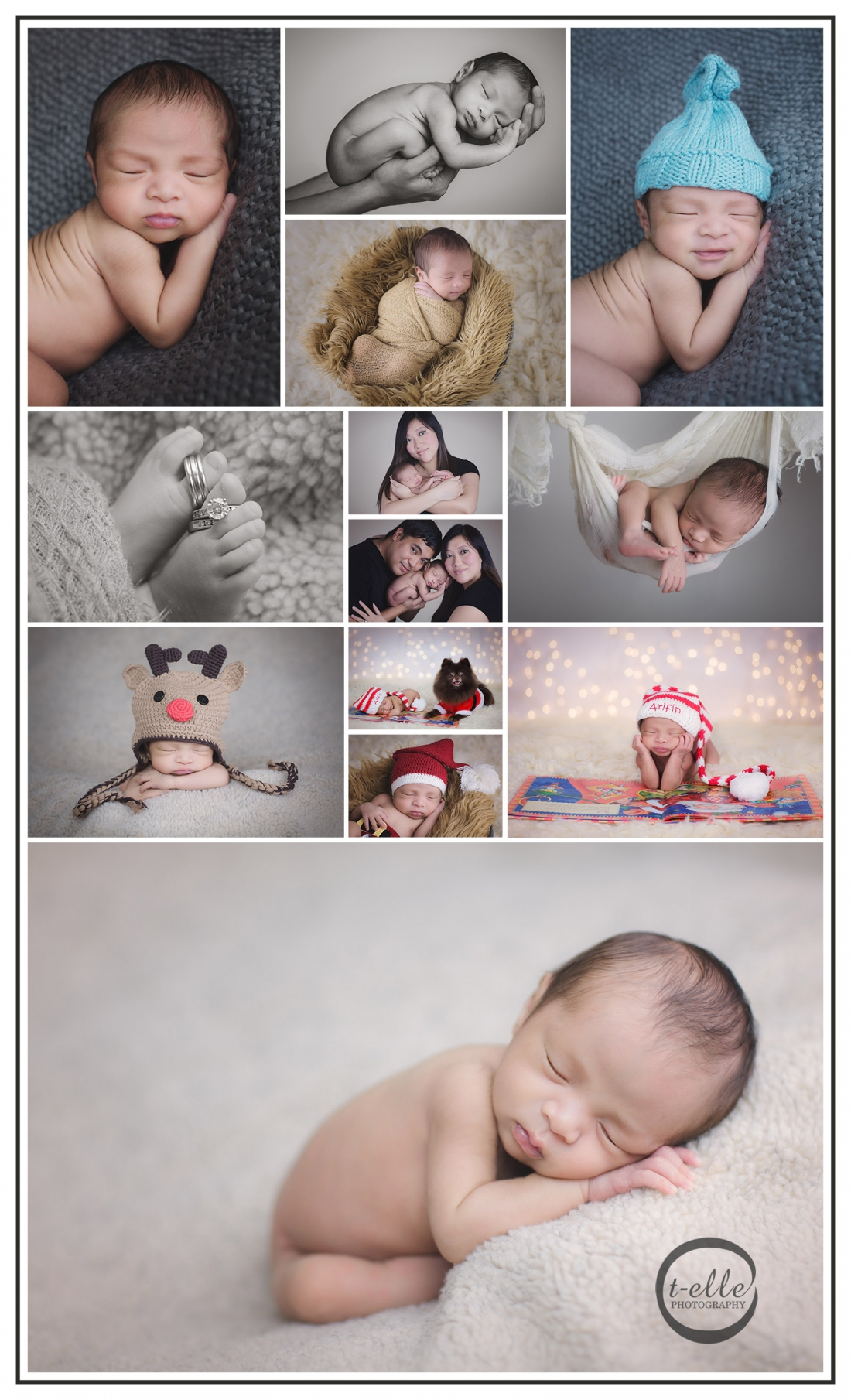 Newborn photography Bothell Holiday themed A holiday themed newborn session