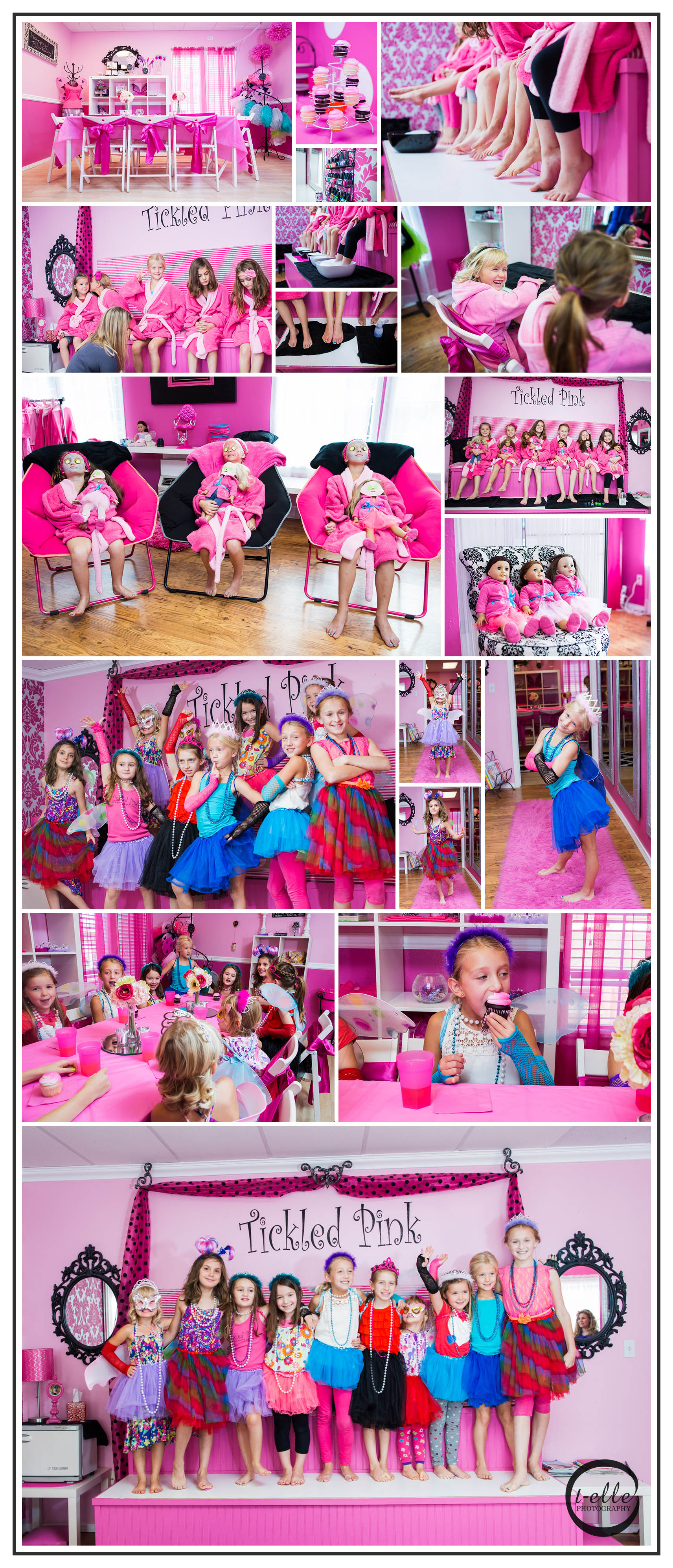 Girly Girl Party At Tickled Pink Bothell Photographer T Elle Photography